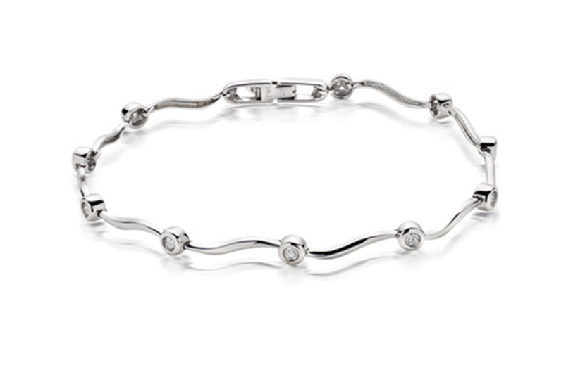 14k White gold Stylish bracelet