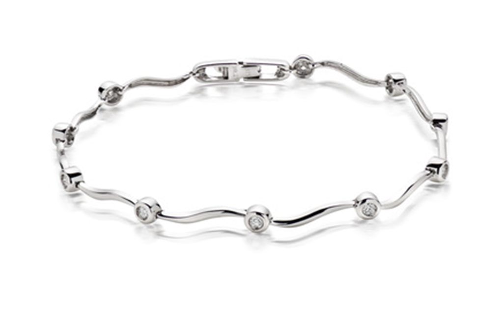18k White gold Stylish bracelet