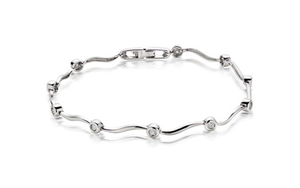 9k White gold Stylish bracelet