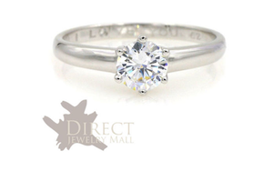 1.50ct 9ct Solid White GOLD Solitaire Created DIAMOND Engagement Ring Full Size