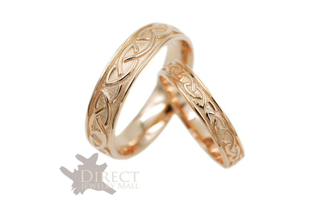 18k rose gold Celtic Ring