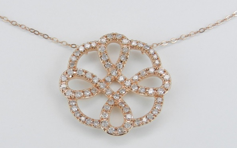 18k rose gold Celtic Pendantt