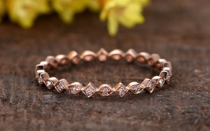 10k rose gold wedding ring