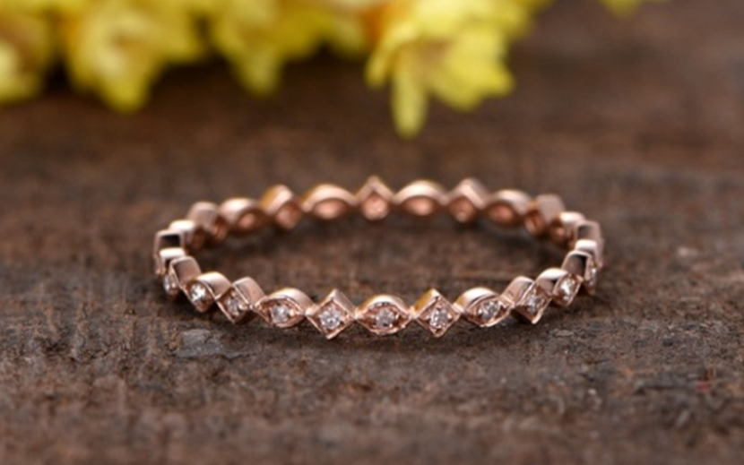 14k rose gold wedding ring