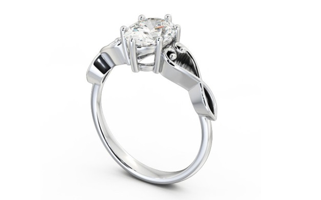 Silver  Engagement Ring