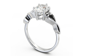 9k white gold Engagement Ring