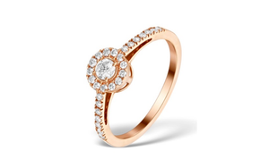 10k rose gold  Engagement Ring