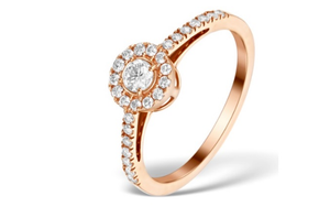 9k rose gold  Engagement Ring