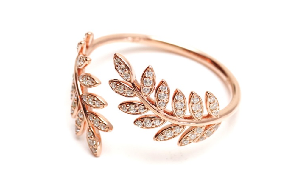 18k Rose gold Stylish Ring