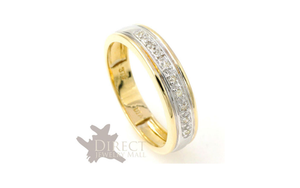 5mm 9ct REAL GOLD GENUINE White DIAMOND Eternity Wedding Band Ring Full Size H-V
