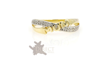 9ct  REAL GOLD GENUINE DIAMOND MUM Ring Mother Gifts Full Size HIJ-TUV