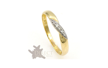 3mm 9ct GOLD Pave GENUINE White DIAMOND KISS Wedding Ring Full Size H-V Gifts