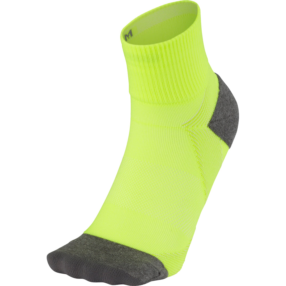 Arch Support Quarter Socks - Flash Yellow