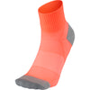 ARCH SUPPORT QUARTER SOCKS - CORAL PINK