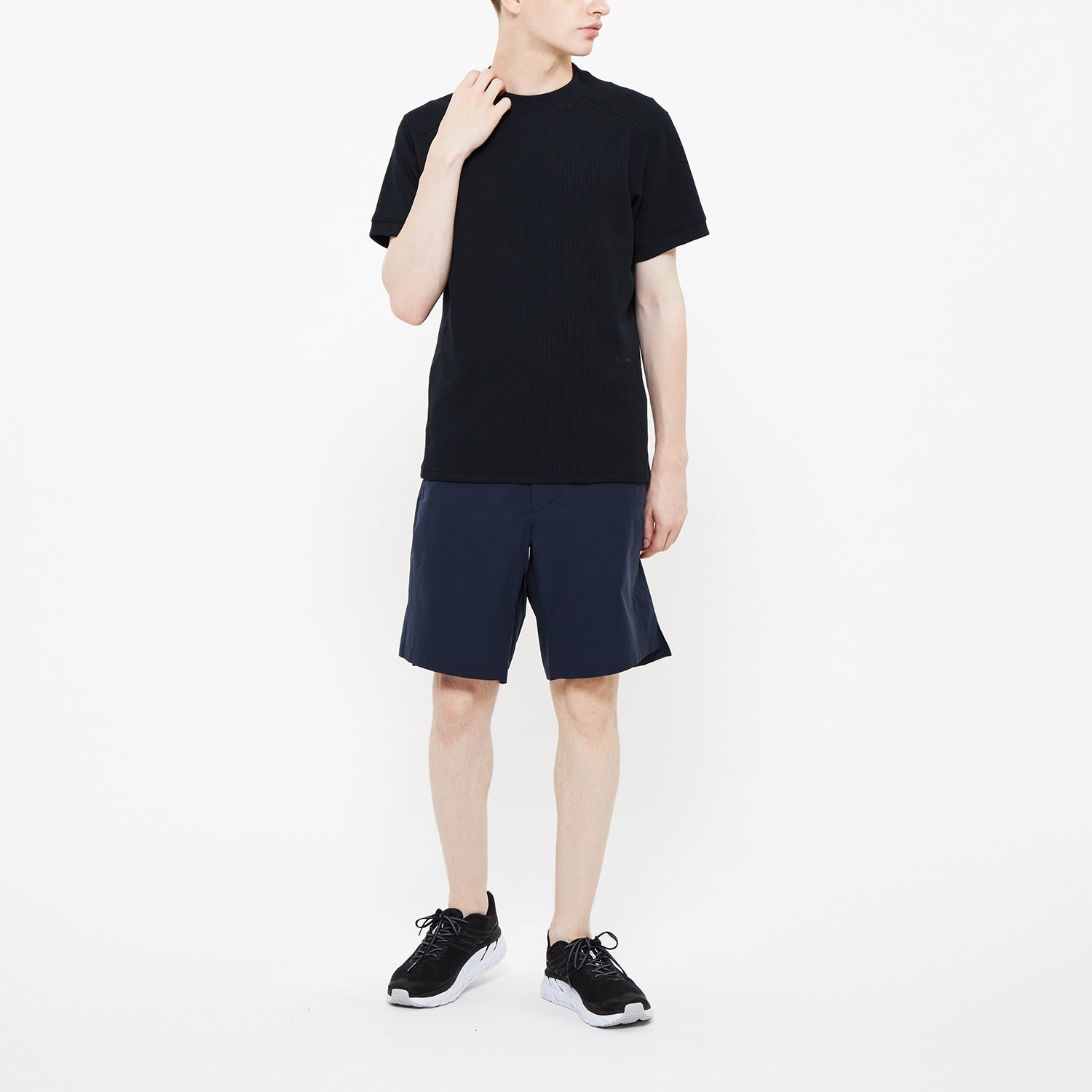 Woven Stretch Utility Half Pants