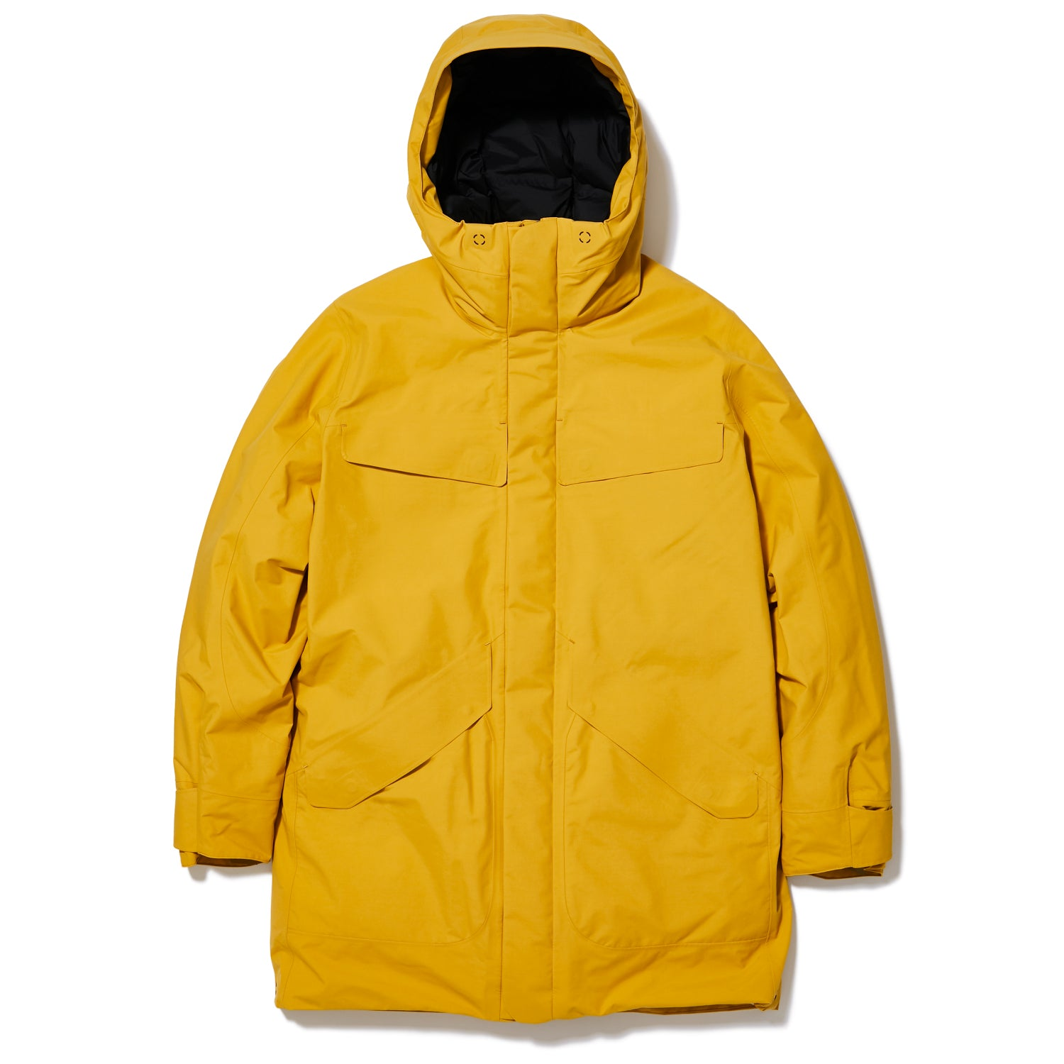 HOODED SPUR DOWN COAT