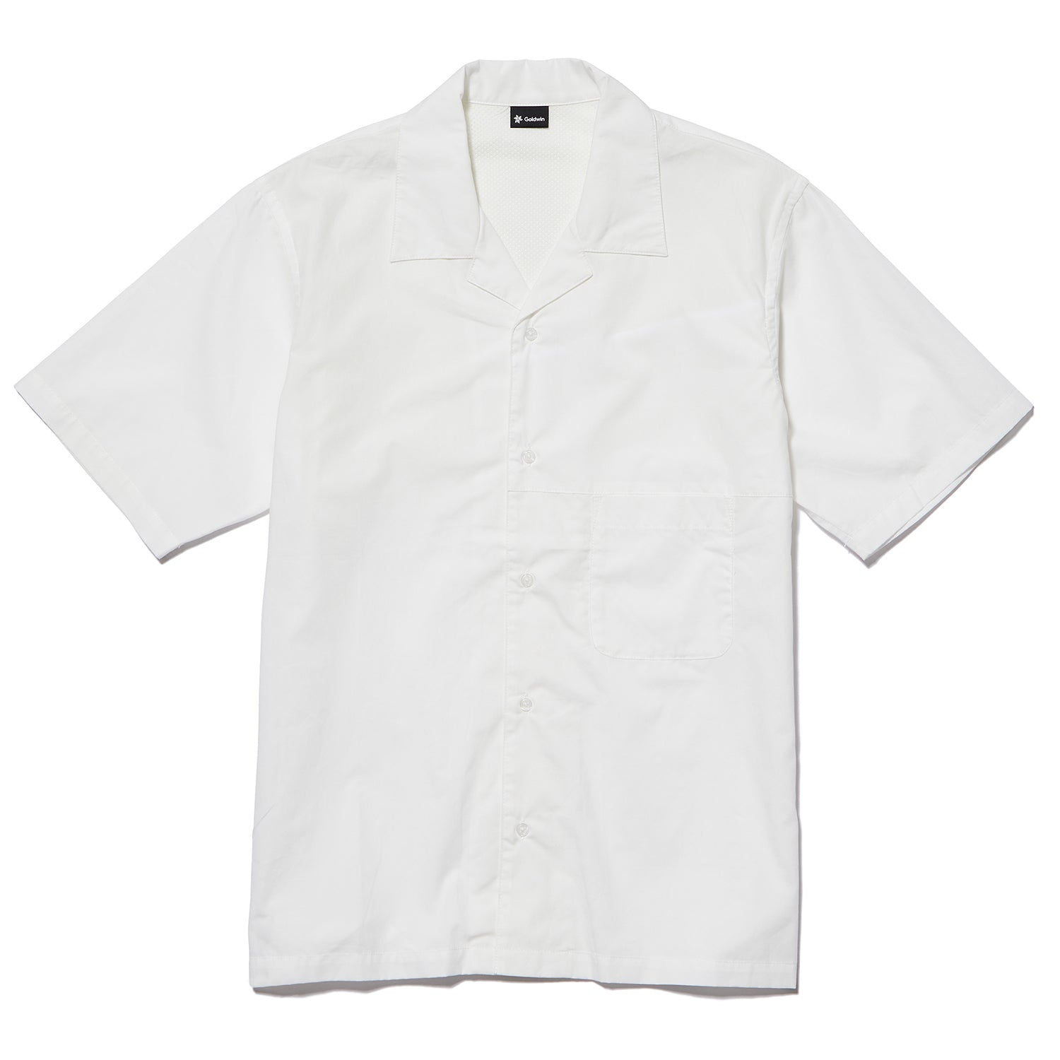 OPEN COLLAR S/S SHIRT