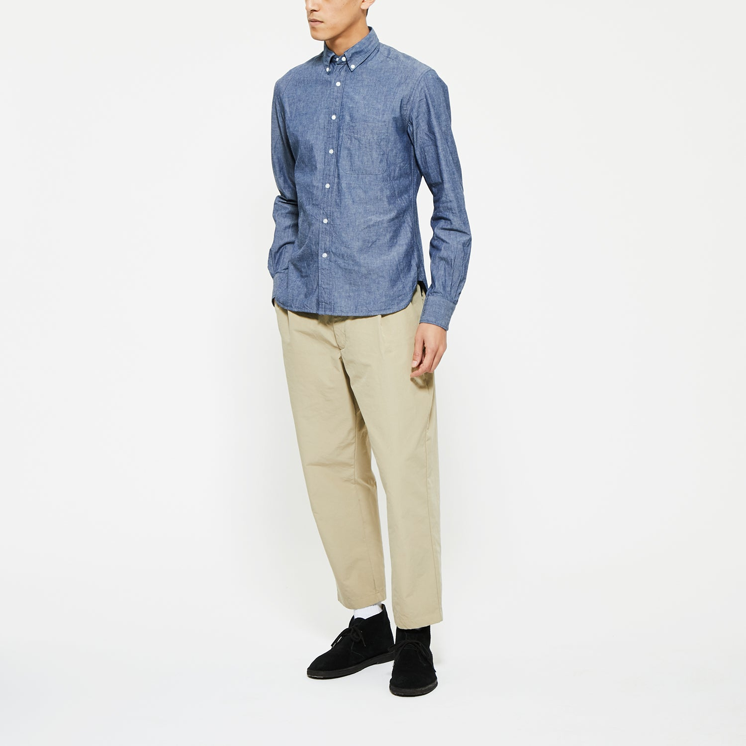 B.D. COLLAR INDIGO SHIRT