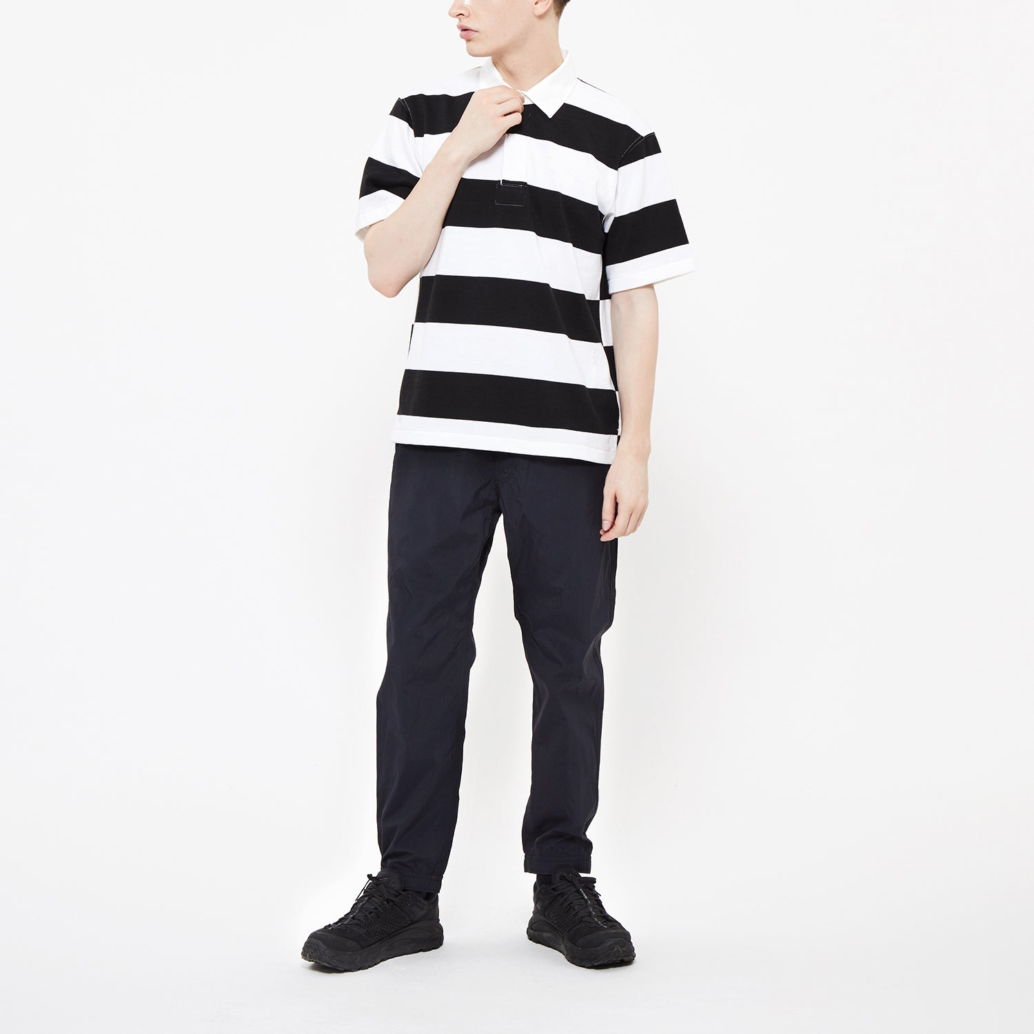 Wide Border S/S Rugger Shirt