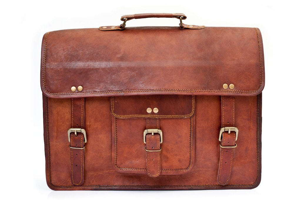Lincoln real leather satchel