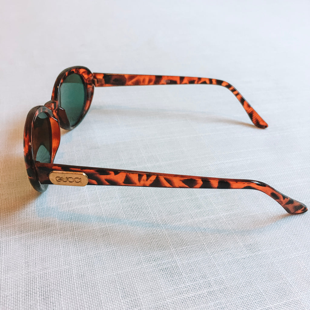 Genuine Gucci Tortoise Shell Style Sunglasses