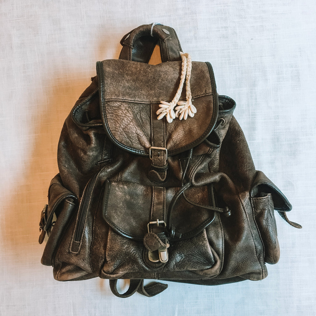 Vintage Leather Traveller Rucksack