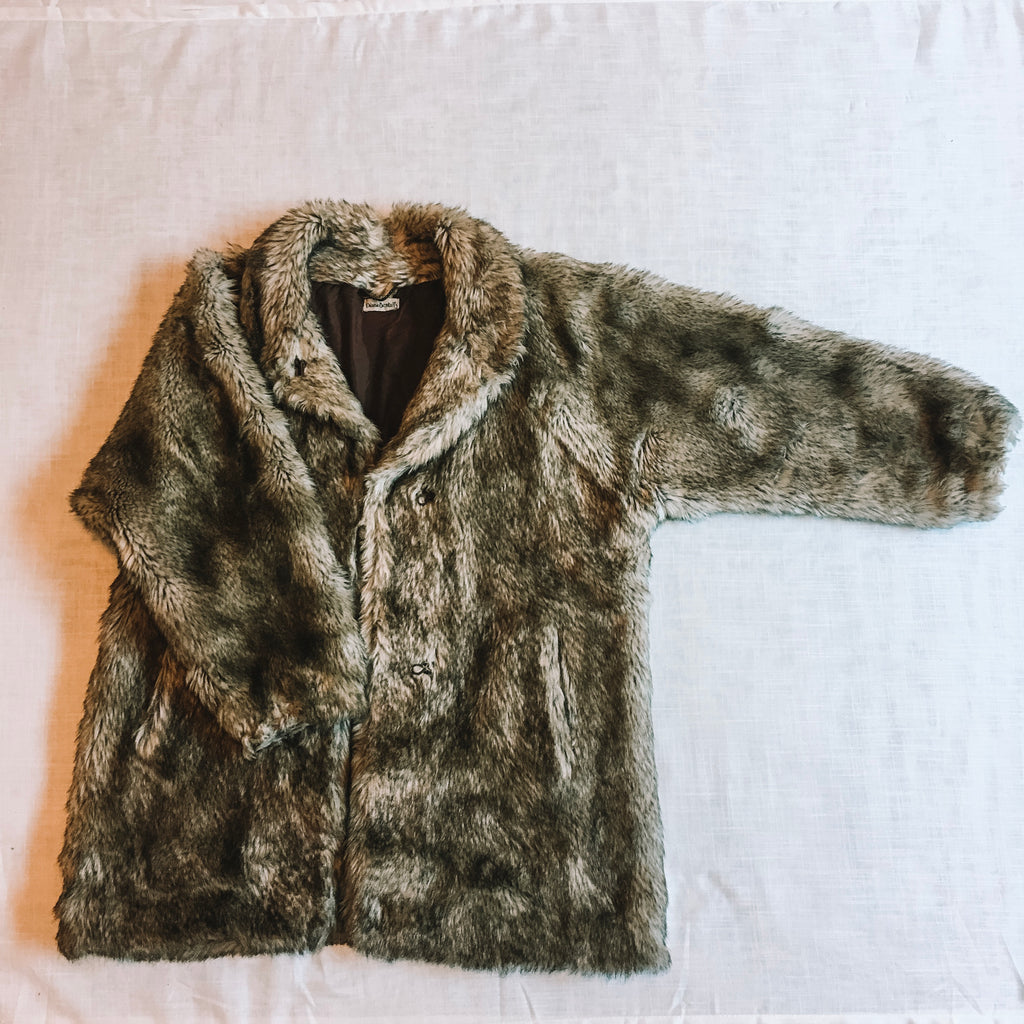 Diana Bentalls Faux Fur Grey Coat