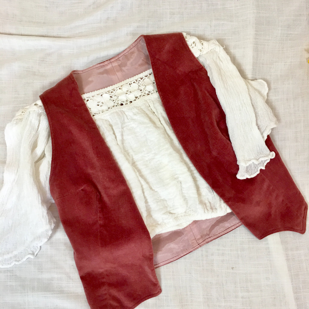 VINTAGE PEASANT CROP TOP