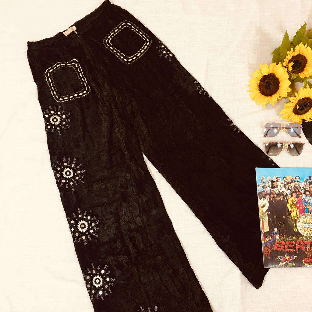 SOUTH OF THE BORDER MIRROR FLARE PANTS