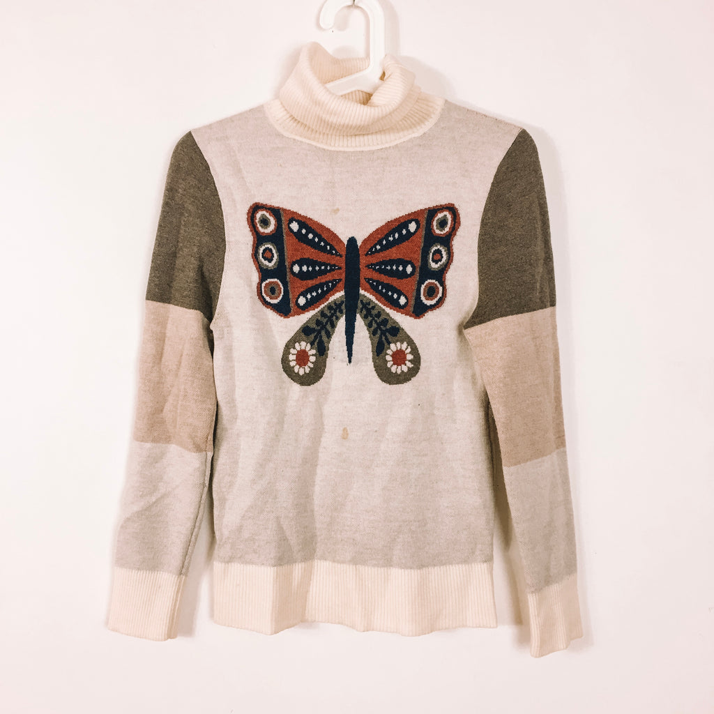 TRUE VINTAGE 70s WOOL BUTTERFLY EFFECT JUMPER