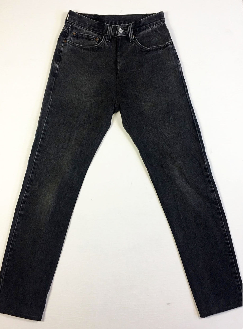VINTAGE LEVI DENIM JEANS - BLACK WASH DENIM