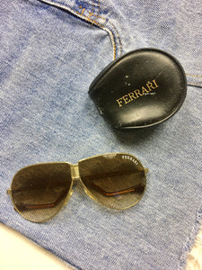 True Vintage Sunglasses - 1970s Ferrari Fold Up Sunglasses