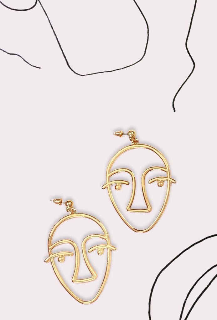 ABSTRACT - Marcel Face Earring