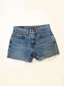 VINTAGE LEVI DENIM SHORTS - BLUE DENIM