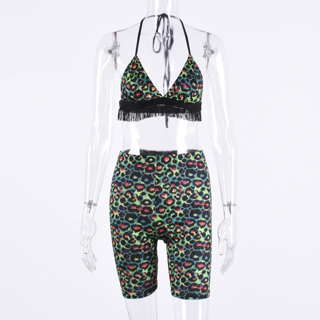 Neon Leopardess Two Piece