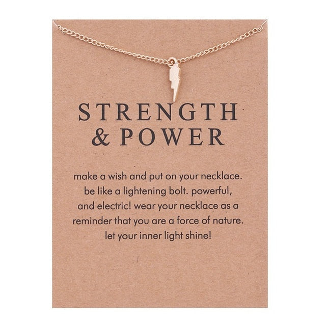 Strength + Power Necklace
