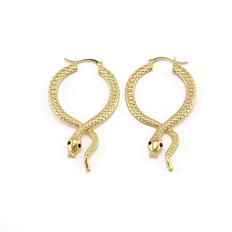 Serpent Queen Hoop Earrings