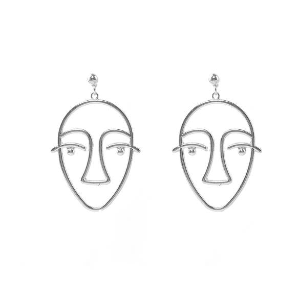 ABSTRACT - Marcel Face Earrings