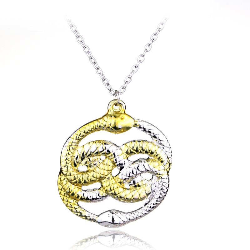 Never Ending Story Snakes Pendant Necklace