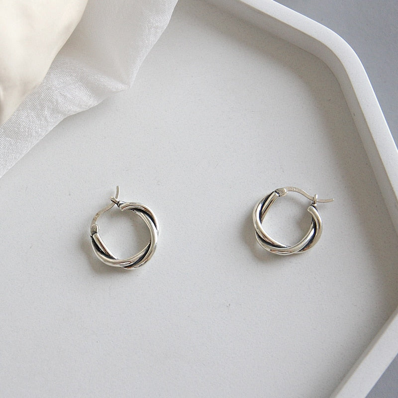 90s Sterling Silver Hoop Earrings