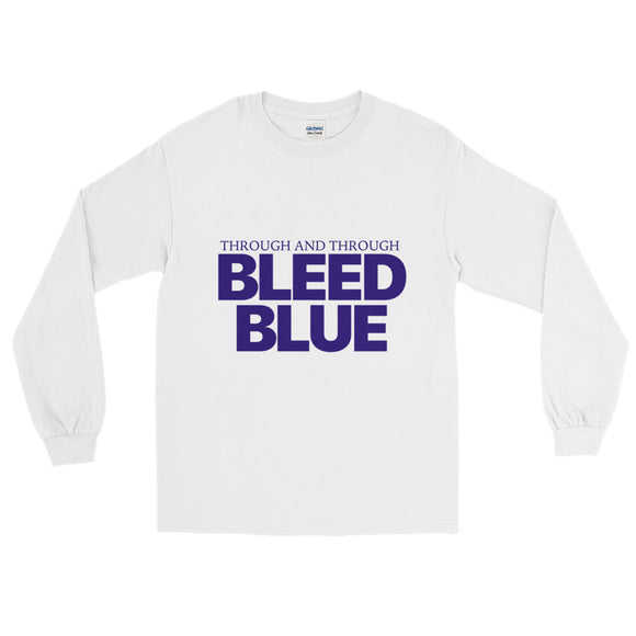 Through and Through Bleed Blue Long Sleeve T-Shirt
