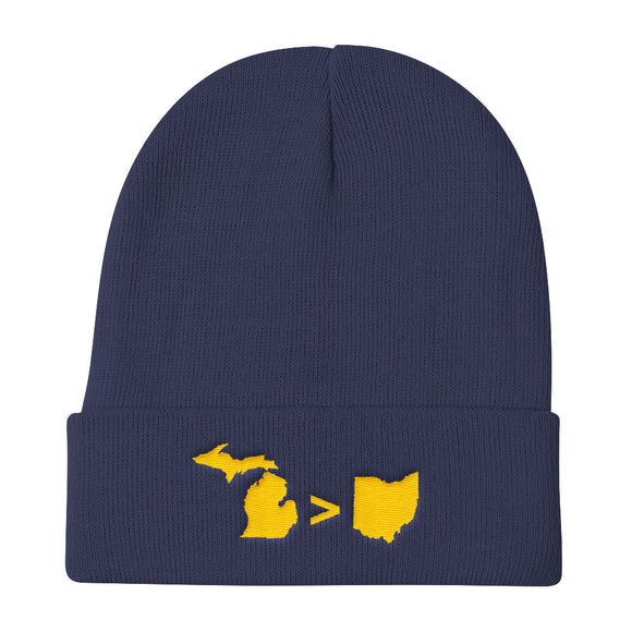 Michigan > Ohio Knit Beanie