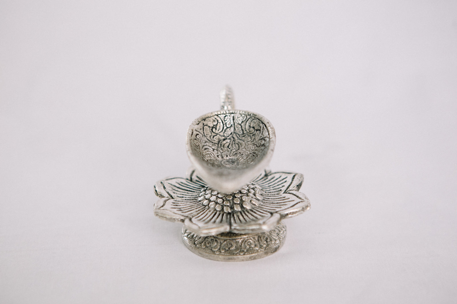 Diya with Lotus Flower Base