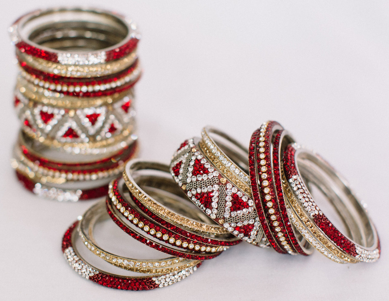 Red & Gold Bangle Set