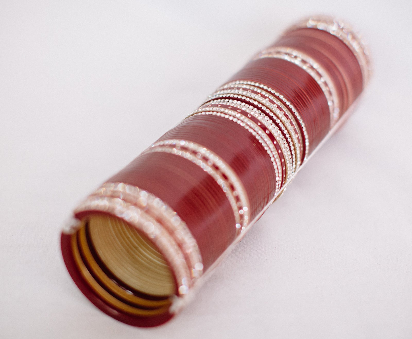 Bridal Chura - Red & White Bangles