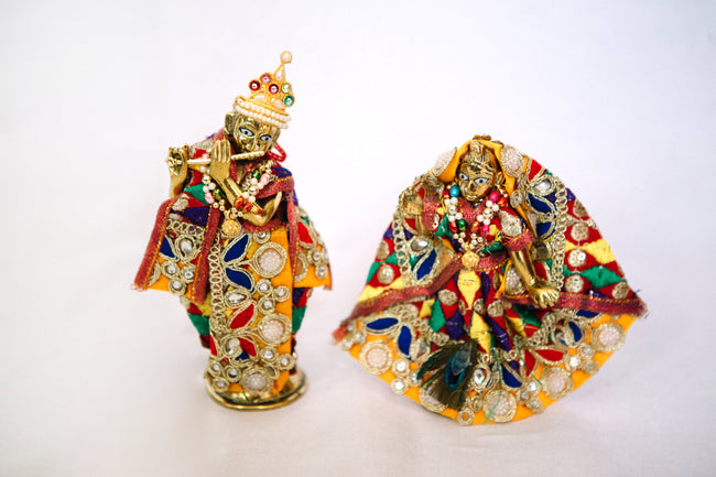 Radha & Krishna Figurines - Multicolored