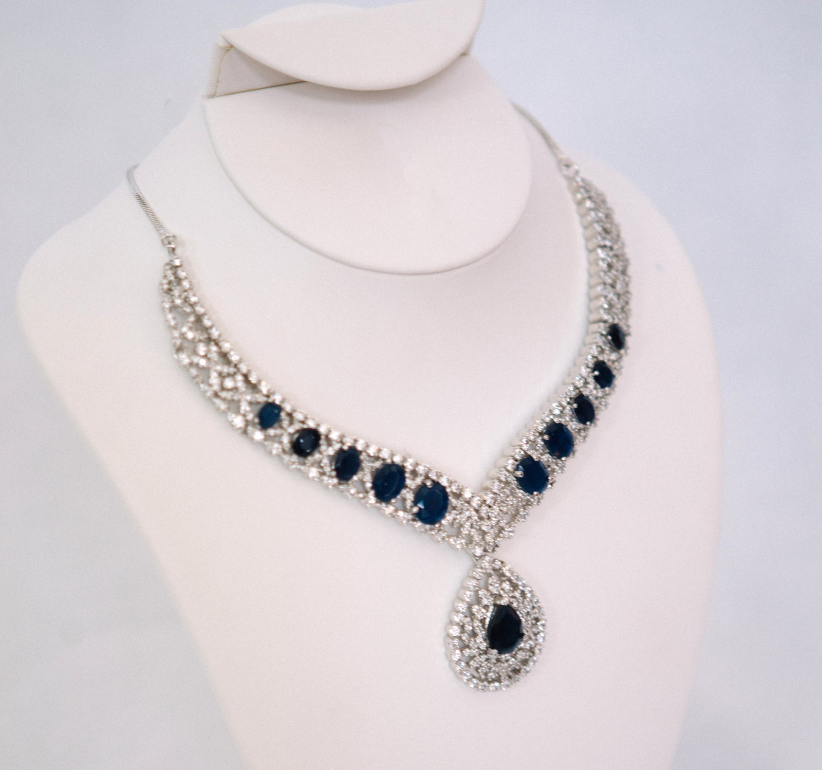 Silver w/ Blue Necklace
