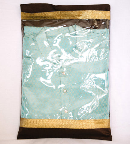 Fabric Bag with Brocade Flap