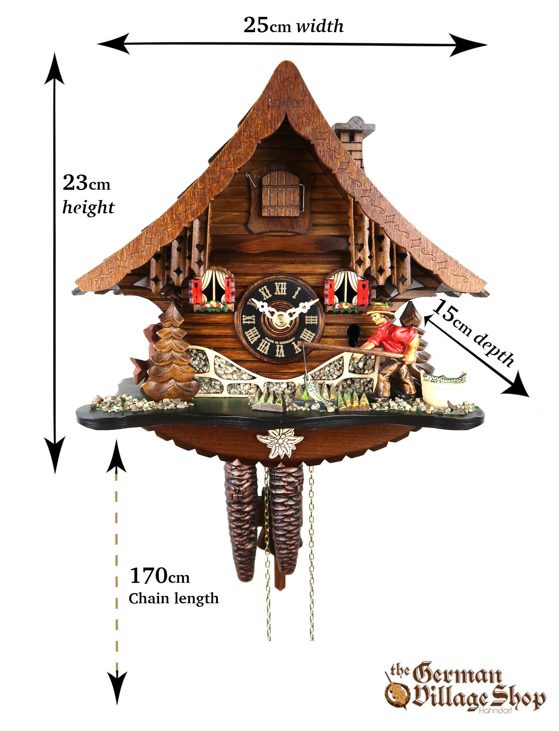 Size of German Cuckoo clock imported and for sale in Australia