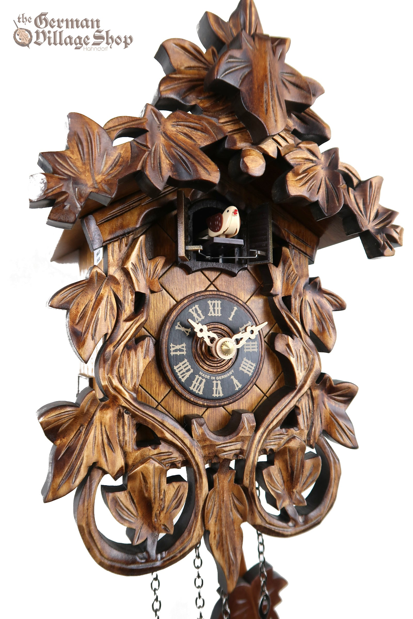 Grape Vine Cuckoo Clock train railroad house clock